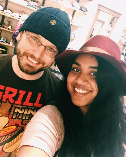 Me and boo at the hat store poncecitymarket hats selfie
