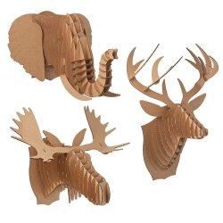 Small Of Cardboard Deer Head
