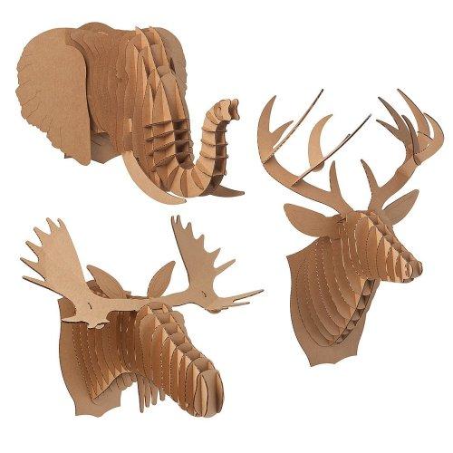 Medium Crop Of Cardboard Deer Head