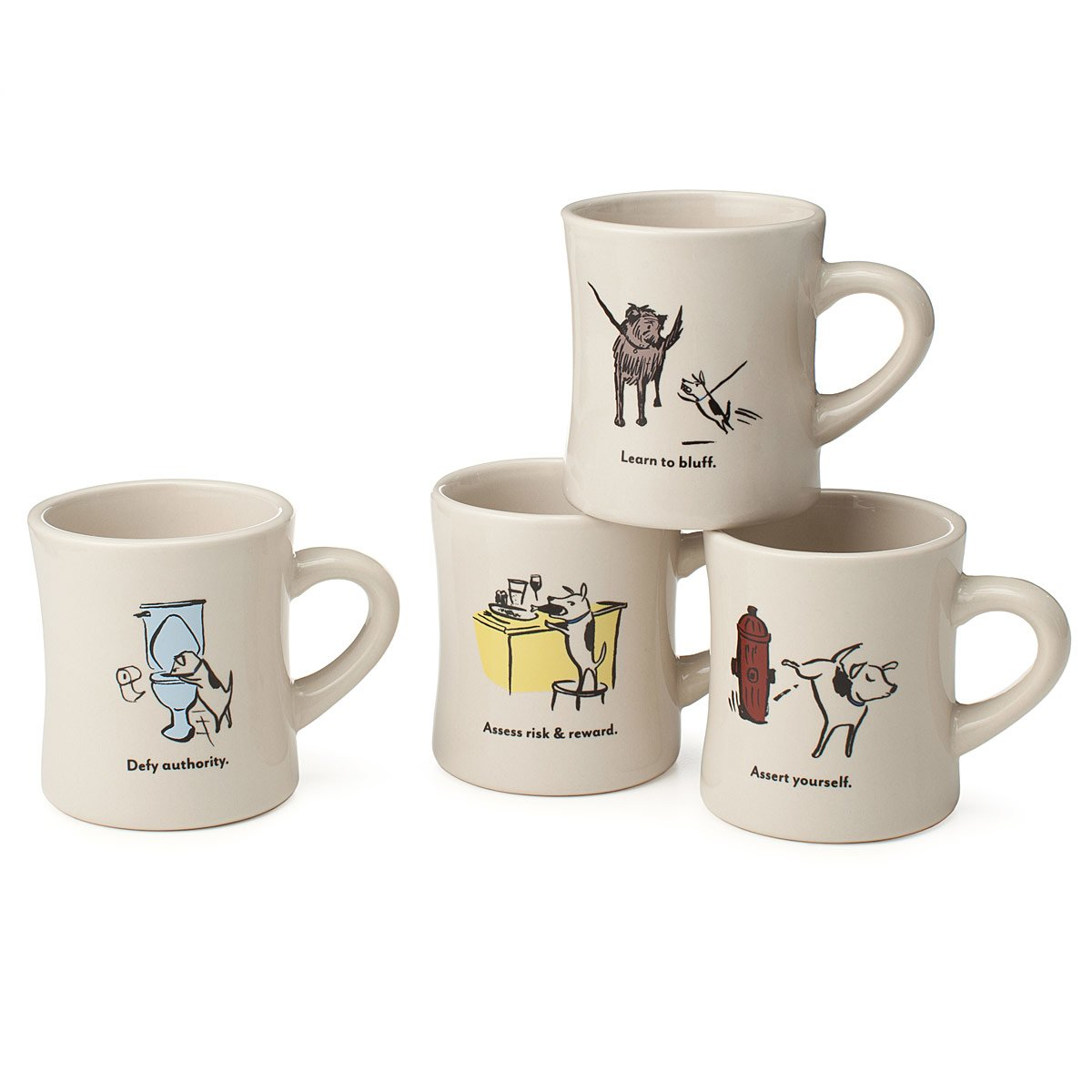 Gallant Coffee Tea Mugs Uncommongoods Coffee Mug Sets Online Coffee Mug Gift Sets Bad Dog Wisdom Diner Mugs Set furniture Coffe Mug Sets