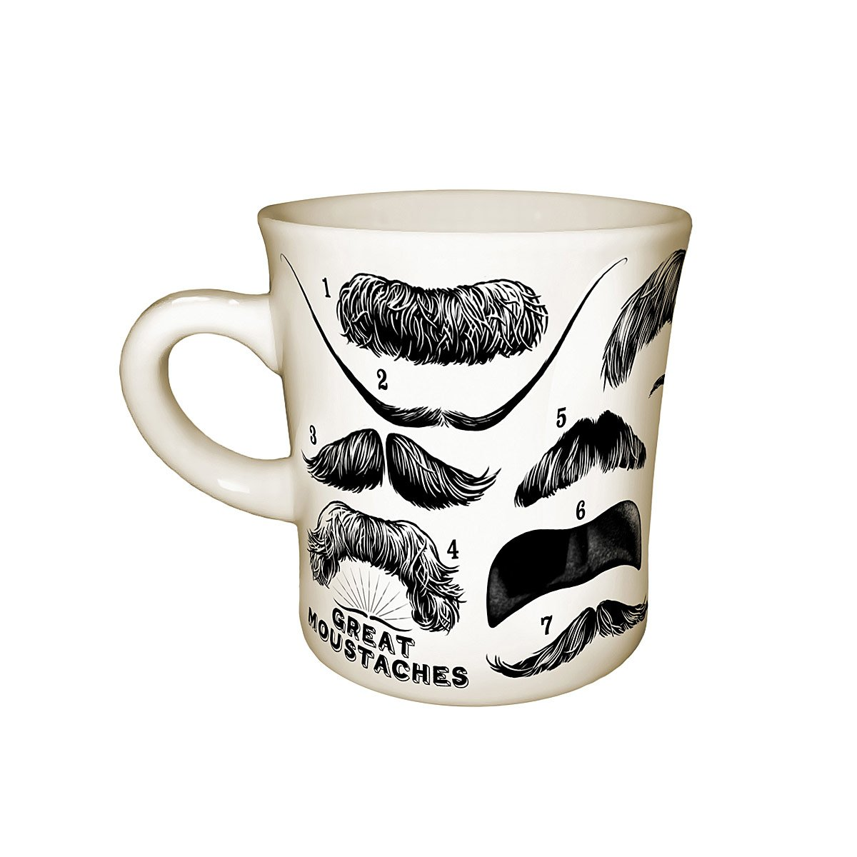Howling Moustaches Mug Coffee Tea Mugs Uncommongoods Shaped Coffee Mugs Wholesale Shaped Coffee Mugs furniture Funny Shaped Coffee Mugs