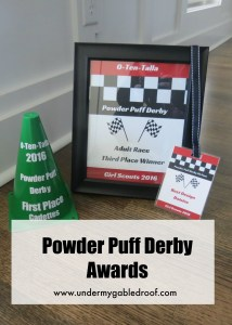 Powder Puff Pinewood Derby Awards