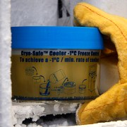 Once neural cells are prepared with the NeuroFreeze kit, samples seen here are placed in a minus-80-degree Celcius freezer overnight before final storage in liquid nitrogen. Cells stored using NeuroFreeze retain up to 90 percent viability, a dramatic improvement over the 30 percent retention rate of other methods.