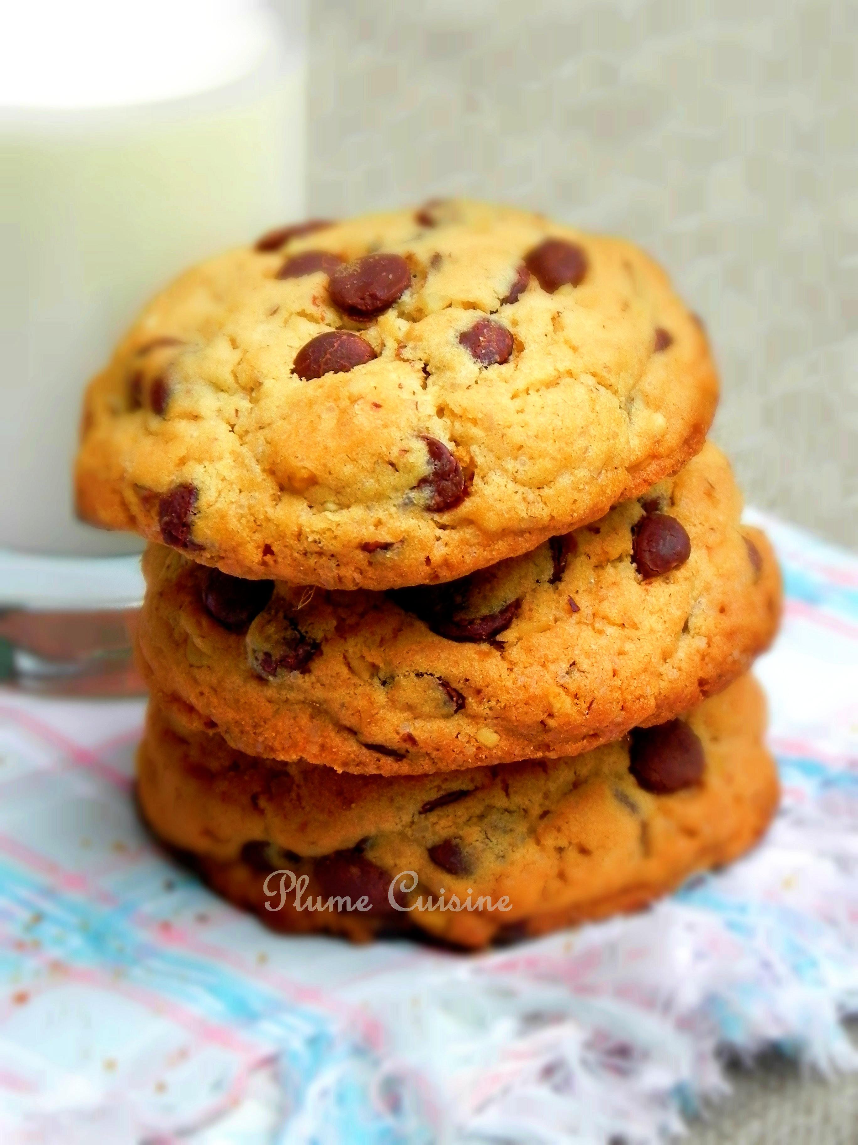 cookies aux p pites de chocolat cookies am ricains. Black Bedroom Furniture Sets. Home Design Ideas