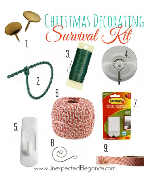 Seasonal decorating can do damage to your walls. Here is a great list of items to use to hang and hold all of those decorations with minimum damage.