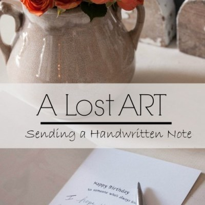 The Lost ART of Sending a Handwritten Note