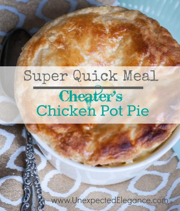 Super Quick Chicken Pot Pie- Cheater's Version