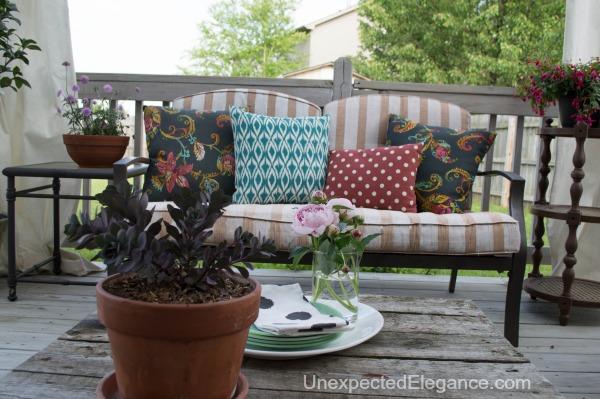EASY DIY Patio Furniture Transformation! #FrogTape