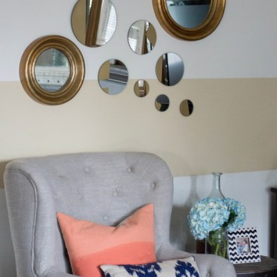 EASY DESIGNER DECOR | DIY Gold Geometric Mirrors