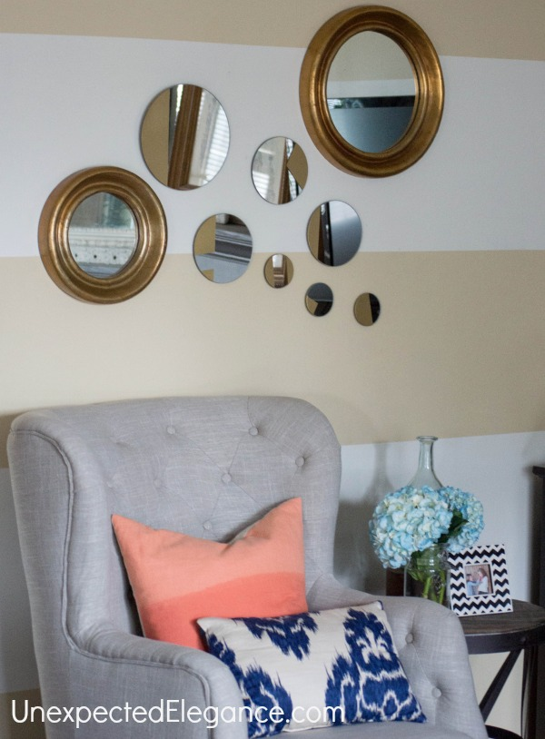 West Elm Inspired Gold Mirror-1-9