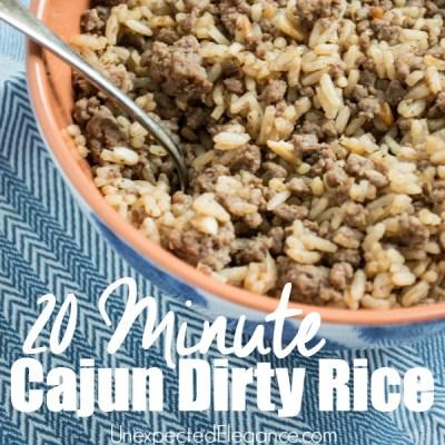 20 Minute Cajun Dirty Rice