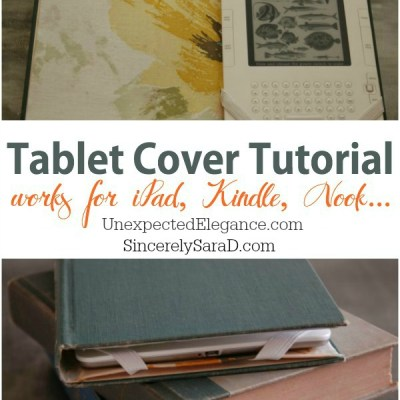 Tablet Cover Tutorial  Using an Old Book {Video Series}