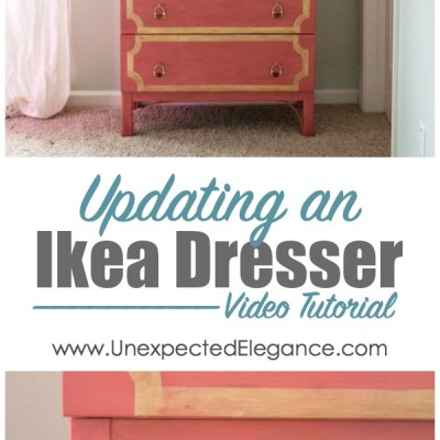 Easily Updating an Ikea Dresser {Video Series}