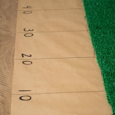 Easy Super Bowl Party Decor | 10 Minute Football Field Table Runner