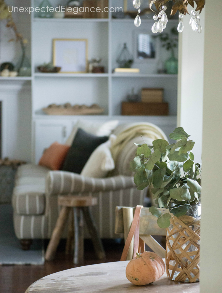 Fall is all about texture, so add in some natural and FREE elements to your home.