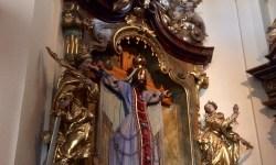 A photo of the Bearded Crucified Lady - Prague, Czech Republic
