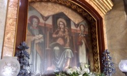 A photo of the triptych of the Madonna - Lija, Malta