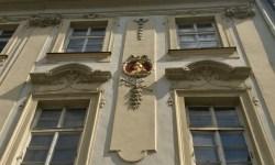 A photo of Hermes on the House of the Golden Wheel - Prague, Czech Republic