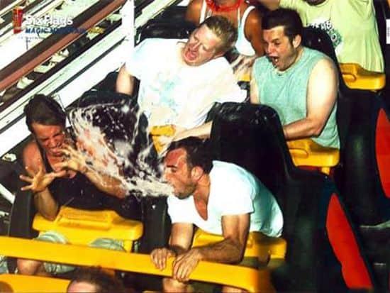 Puking Throwing Up Roller Coaster