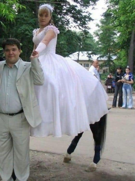 Floating Centaur bride getting married