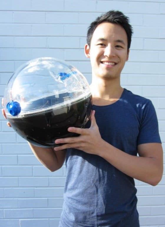 Jon Liow with his solarball