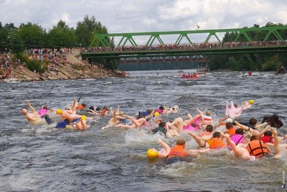 Russian race in the Vuoska River