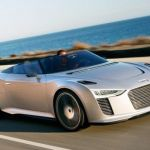 Audi e-Trong electric car cruise