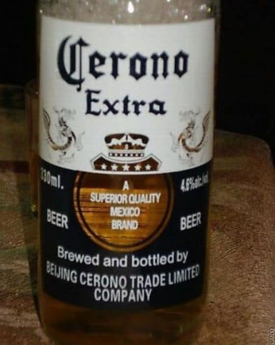 Knock-Off of Corona Beer called Cerono Extra