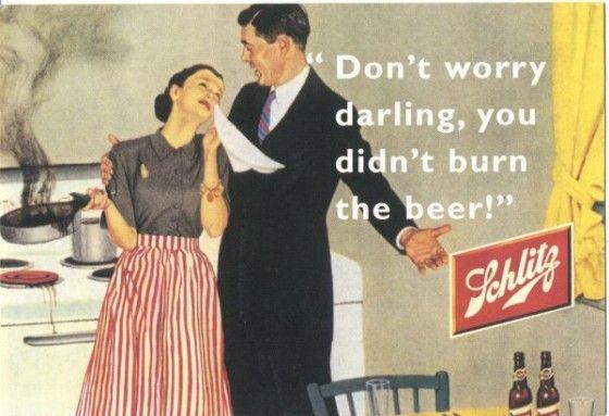 Sexist Schlitz beer Ad