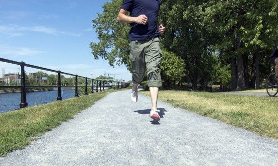 jogging in a minimalist running shoe