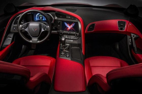 C7 Corvette Stingray interior
