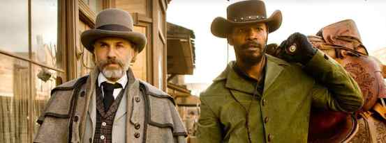 django unchained stetson cowboy hats two men carrying saddle