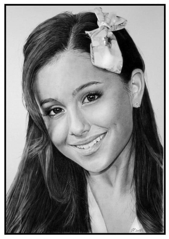 Arianda Grande Pencil Drawing