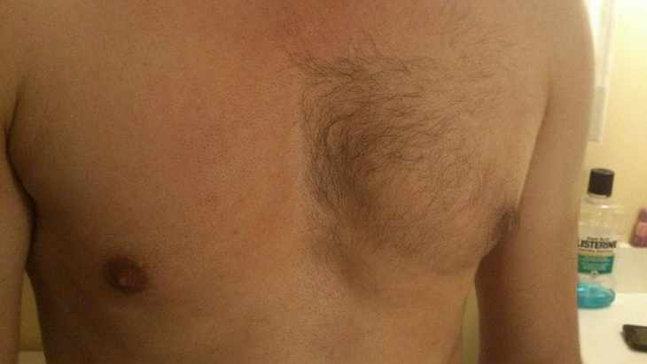 Half shaved chest