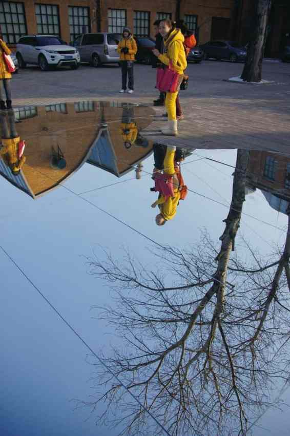 china's lost lakes mirror art installation city reflection