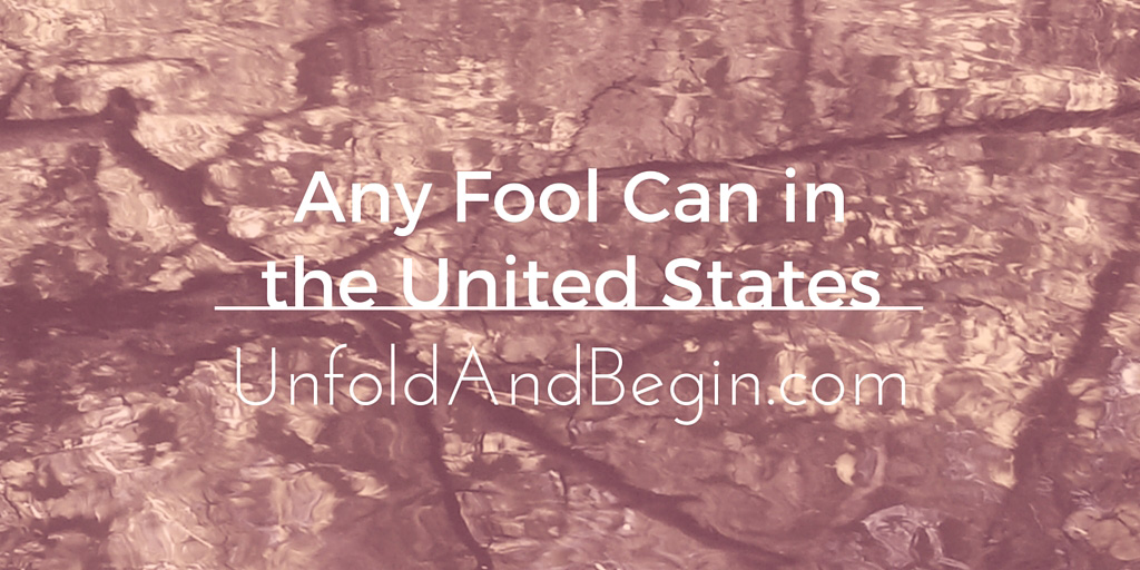 Any Fool Can in the United States