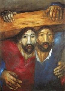 Sieger Koder: Simon and Jesus