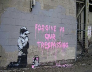 Banksy forgive us our trespassing