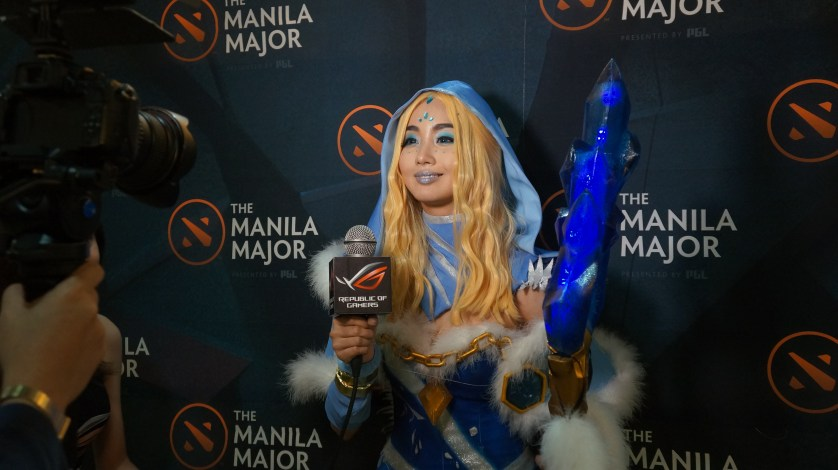 The lovely Alodia graces the Majors as Crystal Maiden!