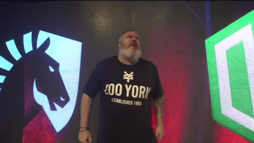 Hodor opens up the grand finals by... Holding the door for OG and Liquid!