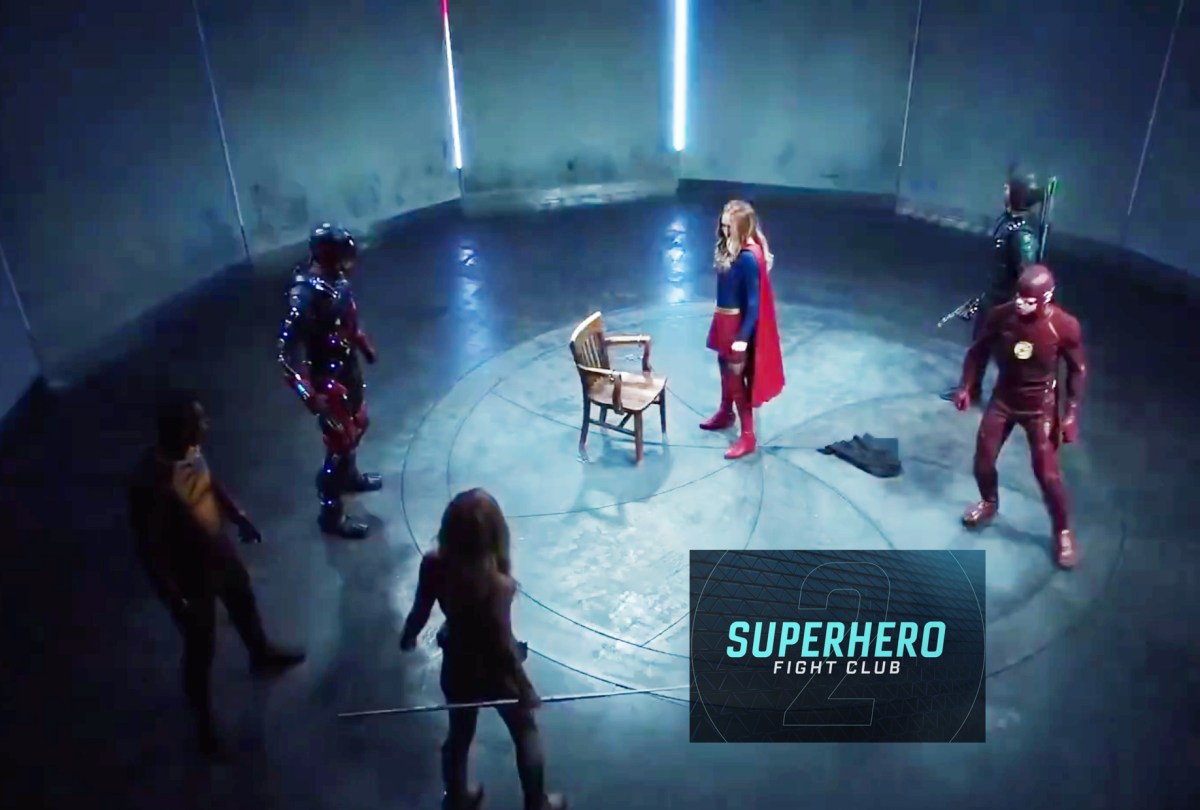 CW's Superhero Fight Club is back! Featuring Supergirl, Arrow, The Flash, White Canary, The Atom, and Firestorm