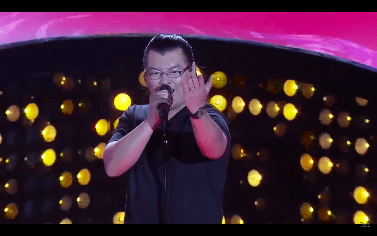 "Dude sings ""Dragon Ball Z"" Theme in THE VOICE and Wins Over Judges and The Crowd"