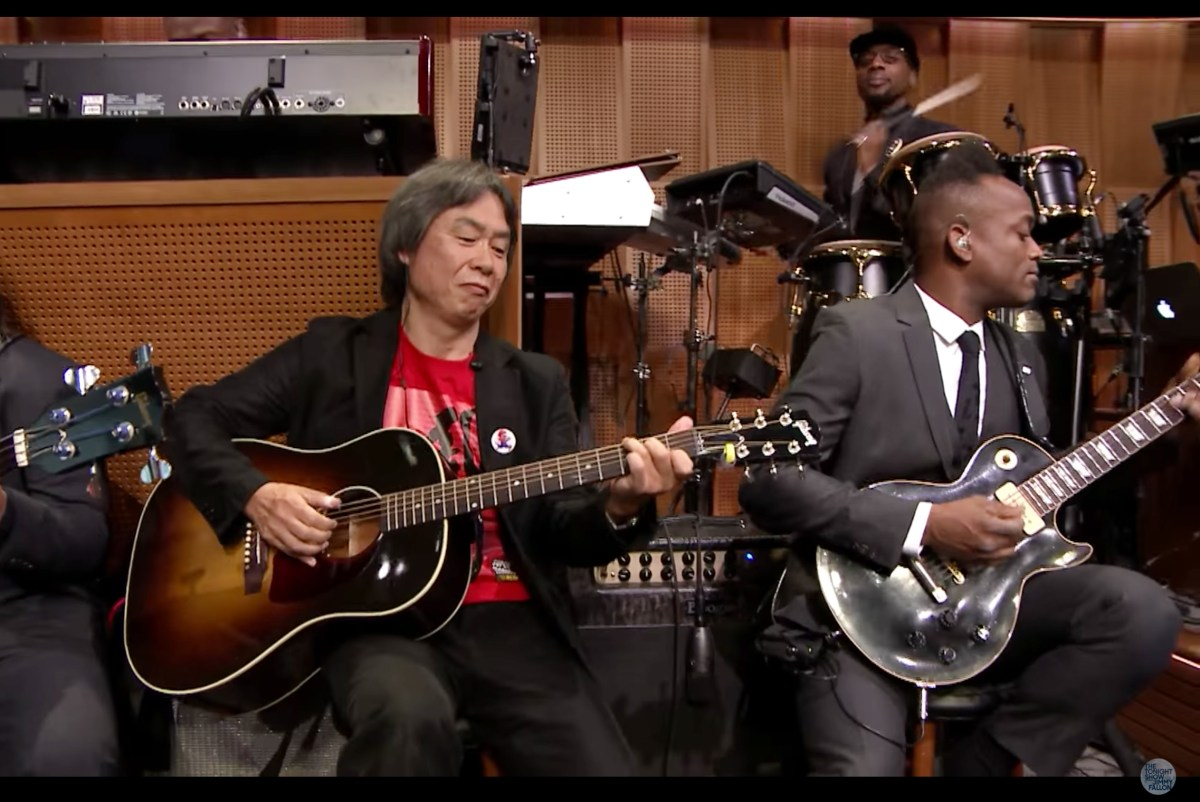 [Watch] Shigeru Miyamoto, Creator of 'Super Mario Bros.', plays the Mario Theme Song @ The Tonight Show Starring Jimmy Fallon