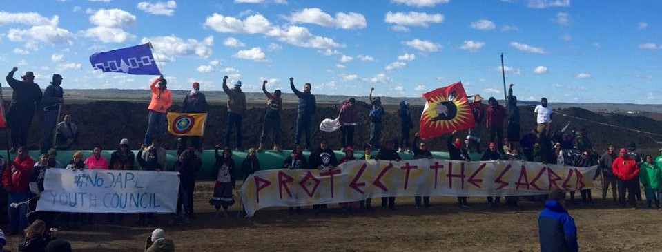 Water Protectors Plant Trees on DAPL Construction Site