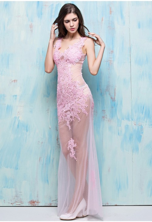 Medium Of Pink Cocktail Dress