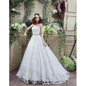 Irresistible Crystals Sash 3 Corset Wedding Dresses Bling Corset Wedding Dresses 2016 Fairy Tale Ball Gown Sweeart Lace Corset Wedding Dress