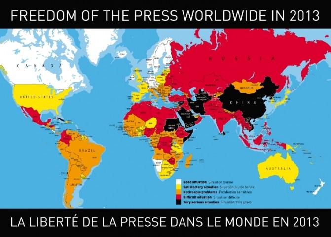Libertad de prensa en el mundo 2013