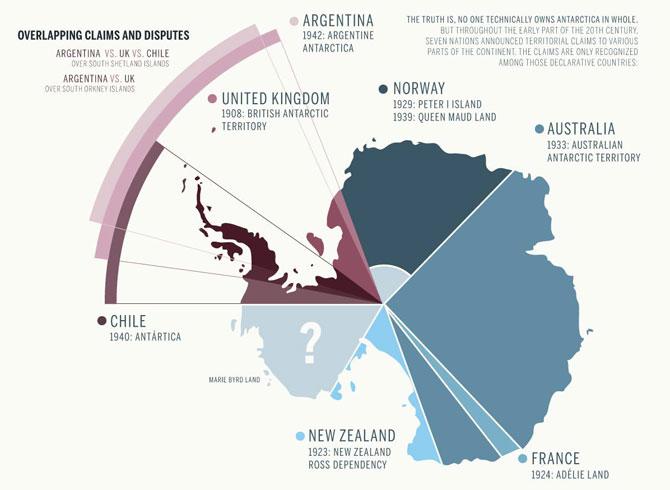 Disputas territoriales en la Antártida