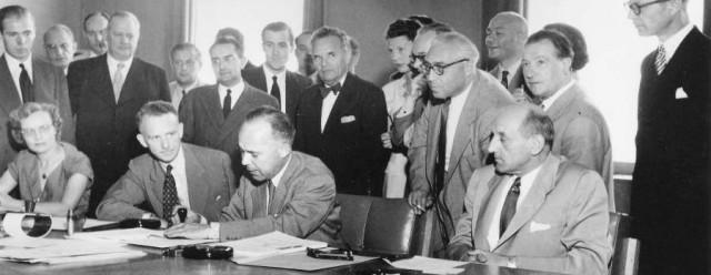 Firma de la Convención sobre el Estatuto de los Refugiados de 1951 [Imagen: Acnur]