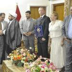 Dr. Massimo Restivo with Najaf Governor, Aglaia Kozlovska and on her left Amir Al-Issawi